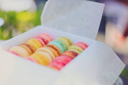 # macarons colorés