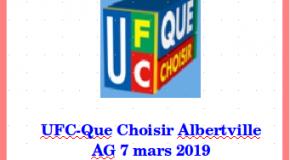 Assemblée générale UFC-Que Choisir Albertville, en présence de M. Alain BAZOT, Président national de l'UFC-Que Choisir